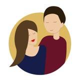 Couples affectueux en cercle illustration libre de droits