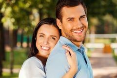 Couples affectueux heureux Photo libre de droits