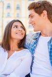 Couples affectueux heureux Photographie stock libre de droits