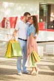Couples affectueux une date Photographie stock libre de droits