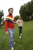 Couples affichant son amour Photos libres de droits