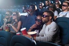 Couples africains au cinéma Image libre de droits
