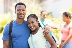 Couples africains d'université Photos libres de droits