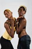 Couples africains de filles image stock