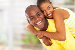 Couples africains espiègles Photographie stock