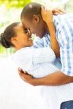 Couples africains flirtant Photos stock
