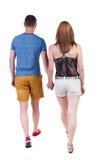 Couples allants de vue arrière Images libres de droits