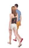 Couples allants de vue arrière Image libre de droits