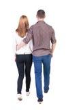 Couples allants de vue arrière Images stock