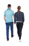 Couples allants de vue arrière Photographie stock libre de droits