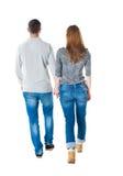 Couples allants de vue arrière Photos stock