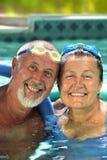 Couples aînés heureux Photo stock