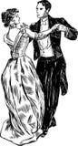 Couples antiques de danse Photo libre de droits