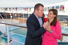 Couples appréciant des vacances de croisière Photos stock