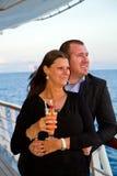 Couples appréciant des vacances de croisière Photographie stock