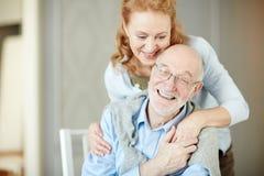Couples appréciant la vie dans la retraite Image stock