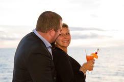 Couples appréciant des vacances de croisière Photo stock