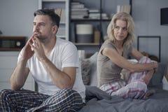 Couples après combat Image stock