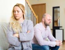 Couples après un conflit Image libre de droits