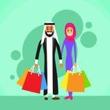 Couples arabes de achat arabes d'homme et de femme Photos libres de droits