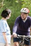 Couples asiatiques aînés Image libre de droits