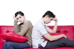Combat asiatique de couples - d'isolement Photos libres de droits