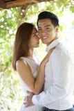 Couples asiatiques dans des relations heureuses Photo libre de droits