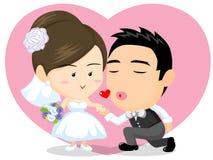 Couples asiatiques de mariage Photos stock