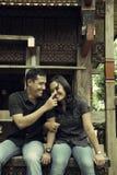 Couples asiatiques du sud-est extérieurs Photos libres de droits
