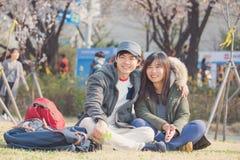 Couples asiatiques en Corée Images libres de droits