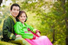 Couples asiatiques heureux Photo libre de droits