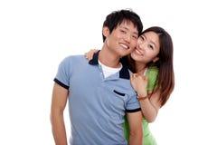 Couples asiatiques heureux Images libres de droits