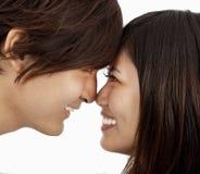 Couples asiatiques tête à tête Image libre de droits