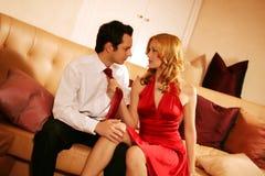 Couples attrayants et riches Photos stock