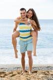 Couples au bord de la mer Photo libre de droits