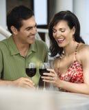 Couples au café extérieur Photo libre de droits