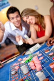 Couples au casino Images libres de droits