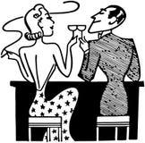Couples ayant des cocktails dans le club Images libres de droits