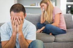 Couples ayant des difficultés Photos libres de droits