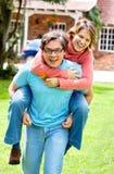 Couples ayant l'amusement Images libres de droits