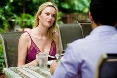 Couples ayant le repas Image libre de droits