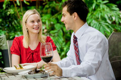 Couples ayant le repas Photographie stock