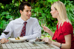 Couples ayant le repas Photo stock