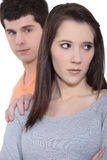 Couples ayant un argument Photos libres de droits