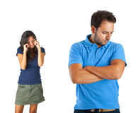 Couples ayant un argument images libres de droits