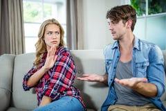 Couples ayant un argument image libre de droits