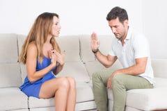 Couples ayant un combat Image libre de droits