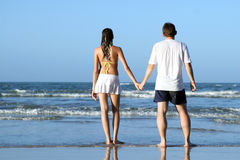 Couples at the beach Royalty Free Stock Photography