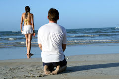 Couples at the beach Royalty Free Stock Photo