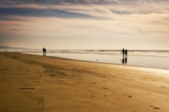 Couples on the Beach, California Royalty Free Stock Photography